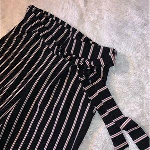 Eclipse cropped dress pants. wide leg
